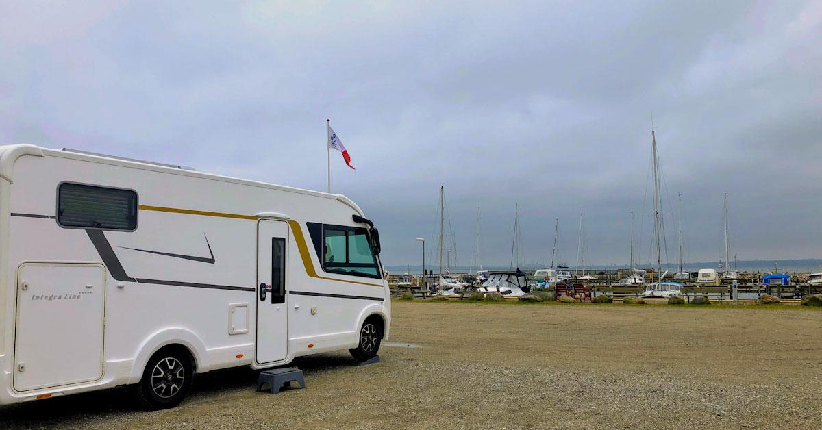 Skødshoved autocamperplads havn